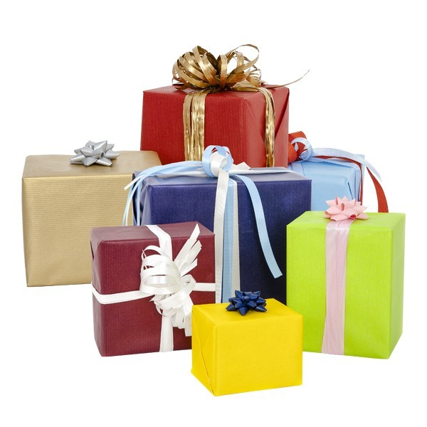 Carta kraft da regalo colorata