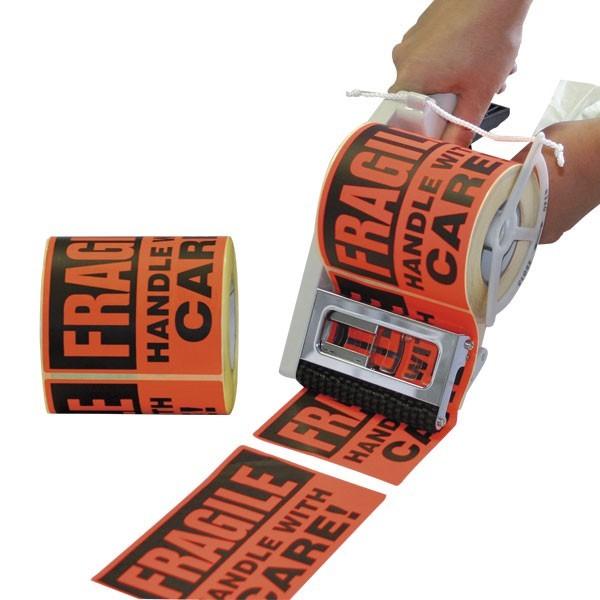 Etichette FRAGILE fluo