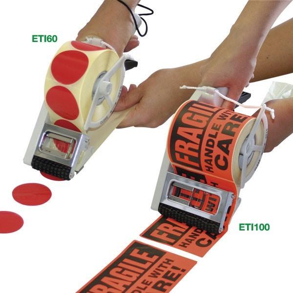 Distributori manuali di etichette adesive