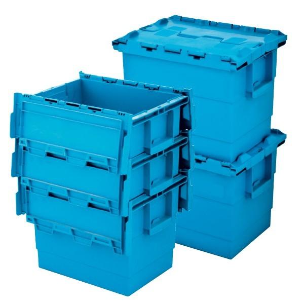 Contenitori in plastica inseribili e sovrapponibili