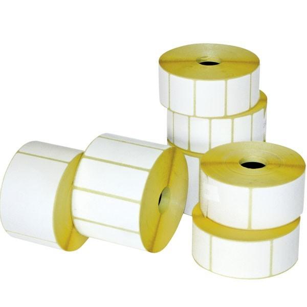 Etichette carta a trasferimento termico ø 76 mm