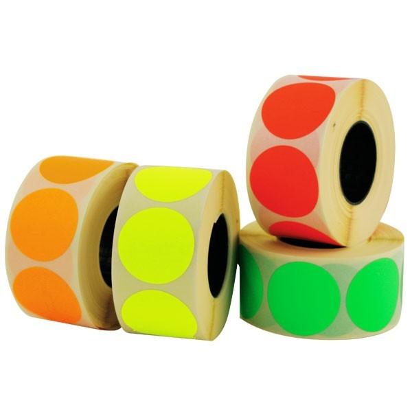 Etichette bollino colori fluo