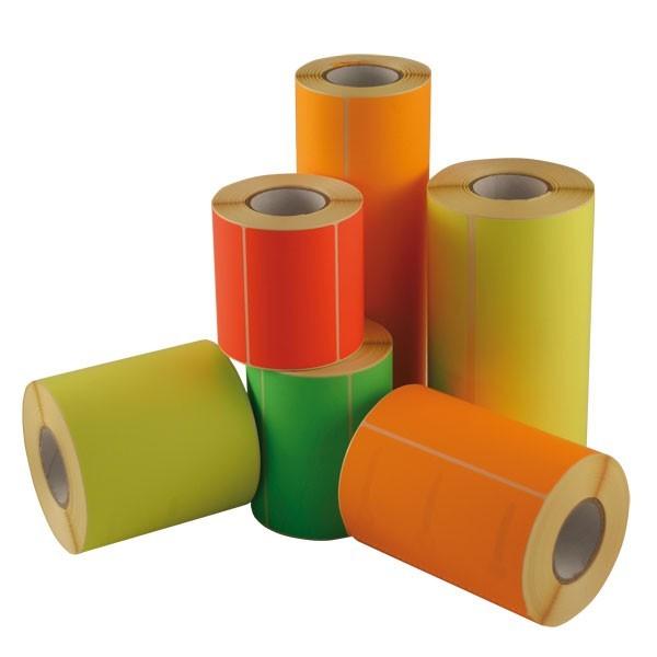 Etichette rettangolari colori fluo