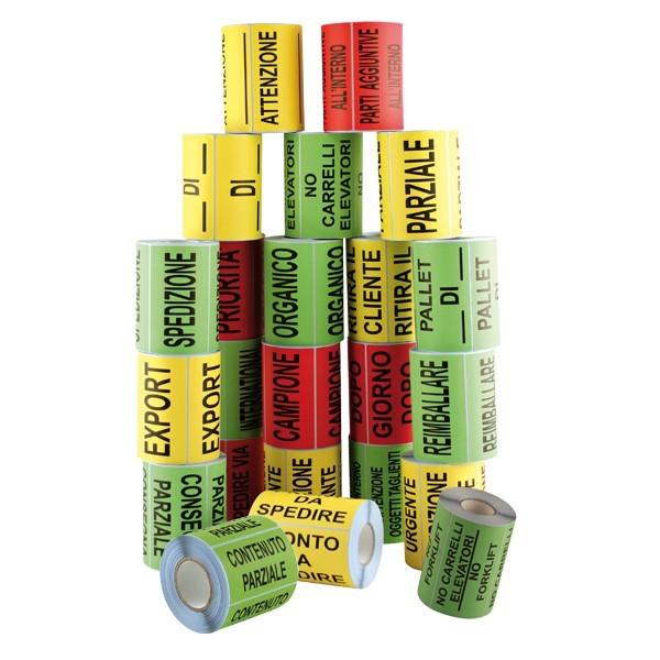 Etichette di segnalazione fluo