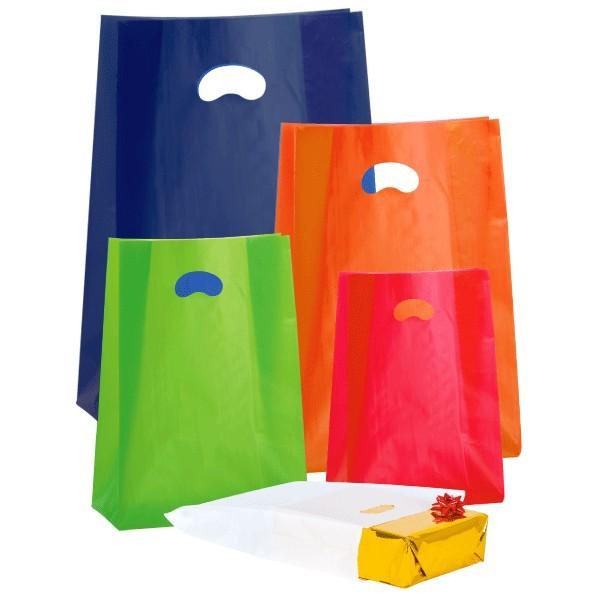 Shopper in PE-HD colorate con soffietto