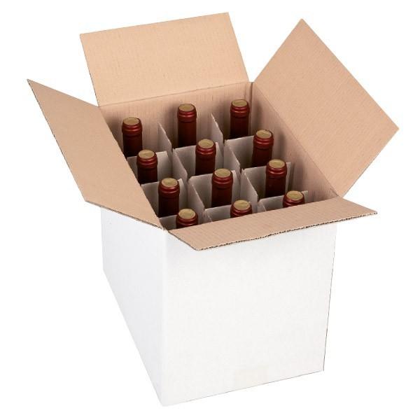 Scatola per bottiglie con alveare verticale