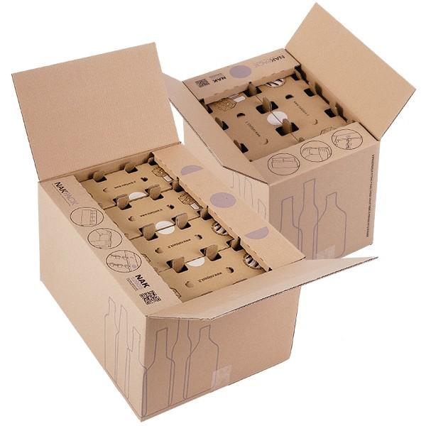 Scatola per spedizione di bottiglie small e standard