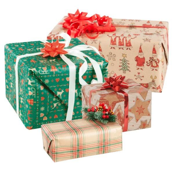 Carta kraft avana fantasia Natale