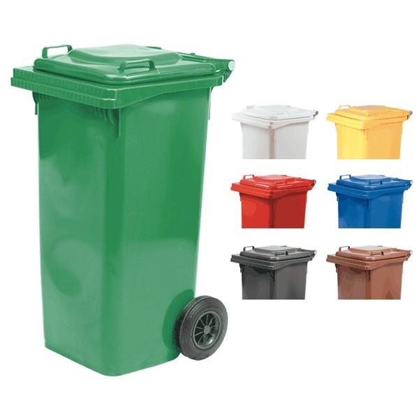 Bidone per rifiuti con ruote 120 lt