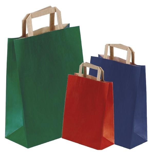 Shopper colorate maniglia piatta