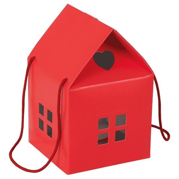 Scatole regalo rossa forma a casetta