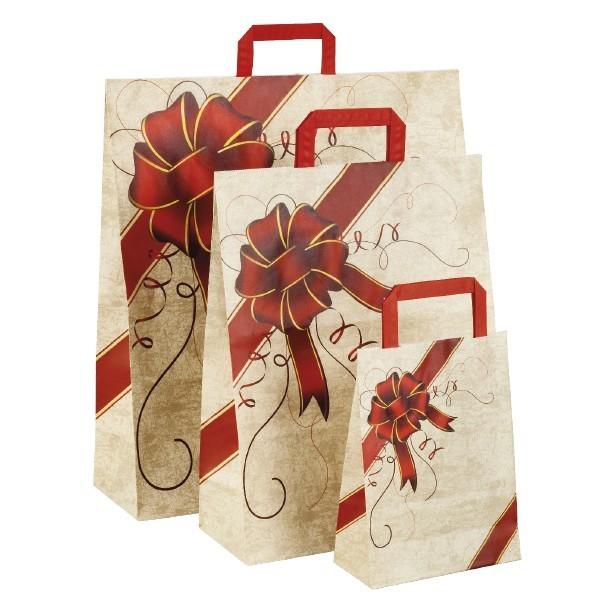 Shopper in carta fiocco rosso