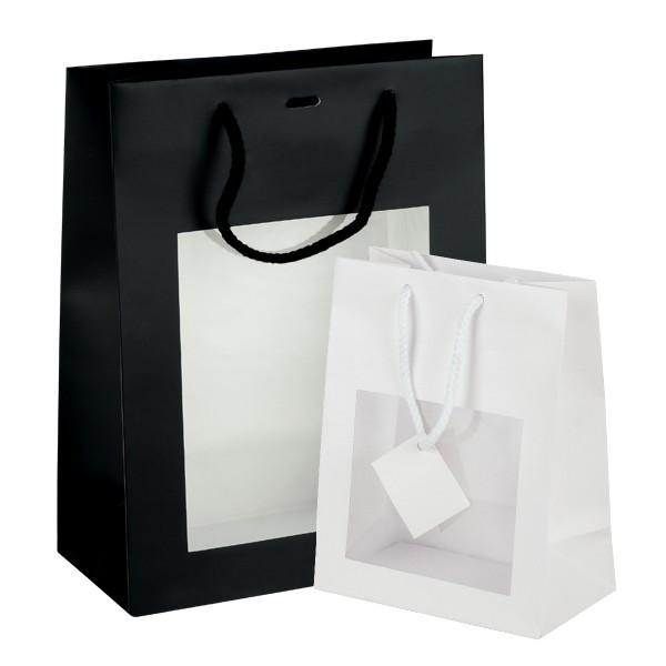 Mini shopper lusso con finestra
