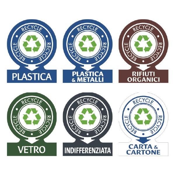 Etichette in pvc per raccolta differenziata