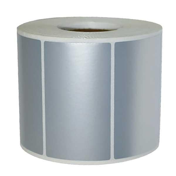 Etichette in poliestere argento
