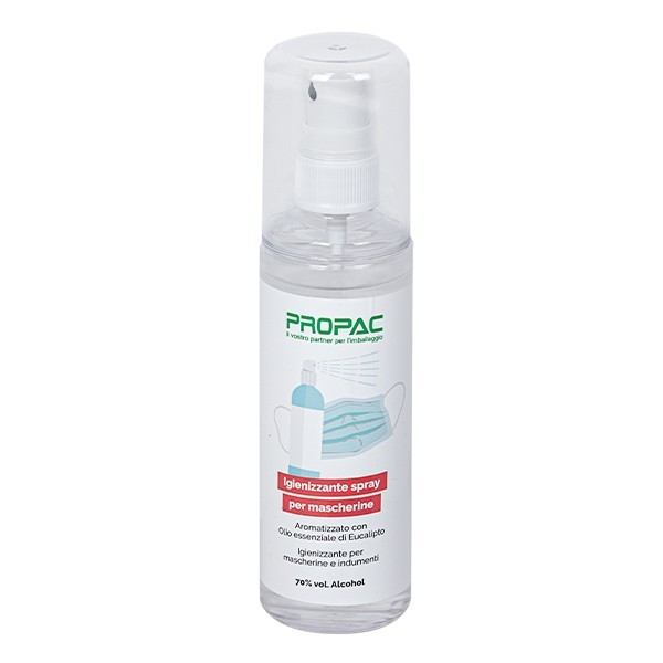 Igienizzante spray per mascherine 70% di alcool 125 ml