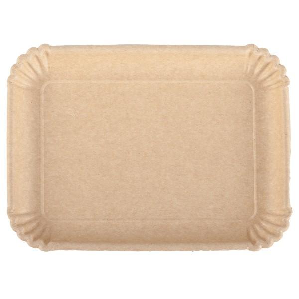 Vassoio in cartone avana per alimenti