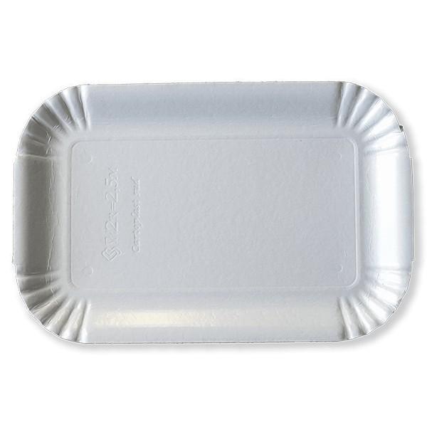Vassoio per alimenti bianco