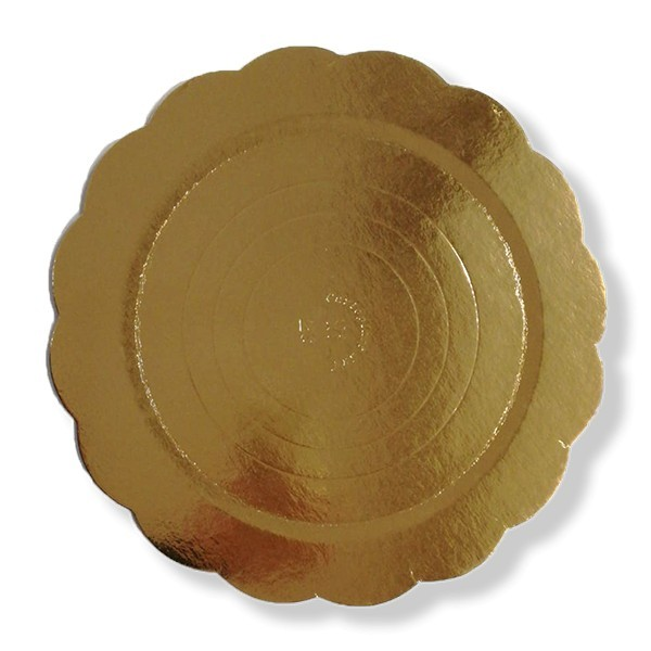 Dischi sottotorta in cartone oro
