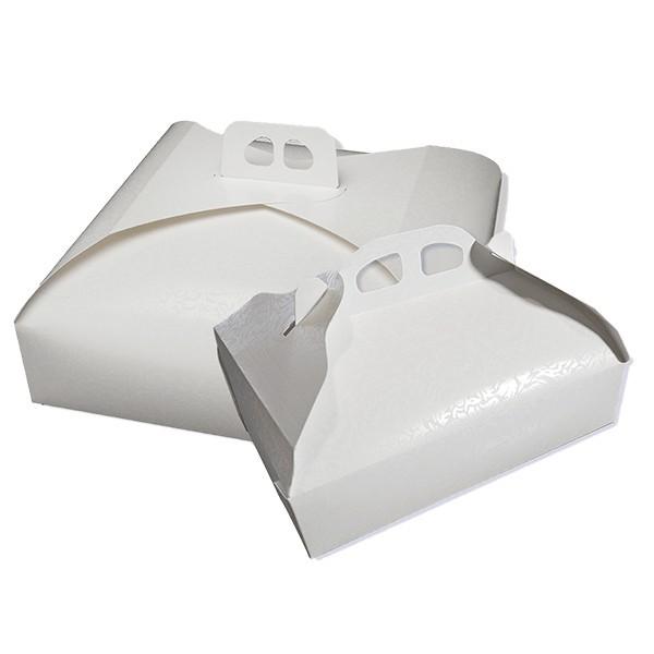 Scatola per torte in cartone bianco
