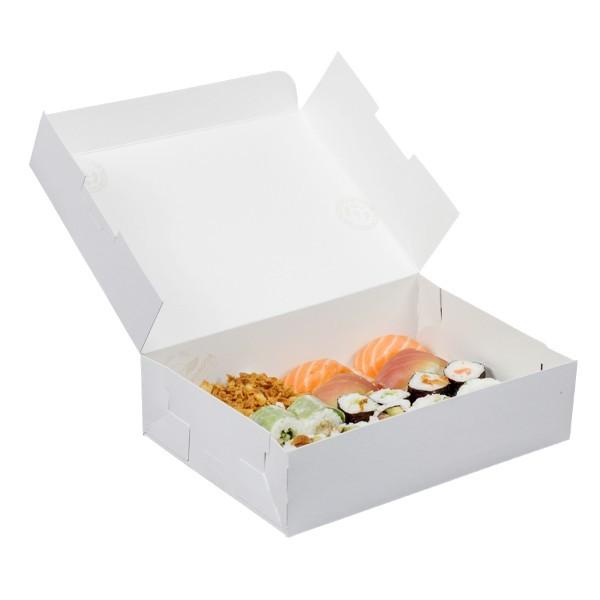 Scatola bianca in cartone per alimenti
