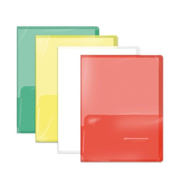 Cartelline trasparenti con doppia tasca