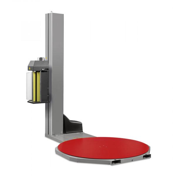 Macchina fasciapallet con tavola rotante e prestiro motorizzato