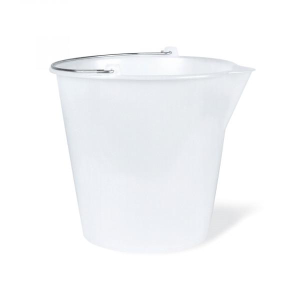 Secchio in polietilene bianco con becco lt. 12