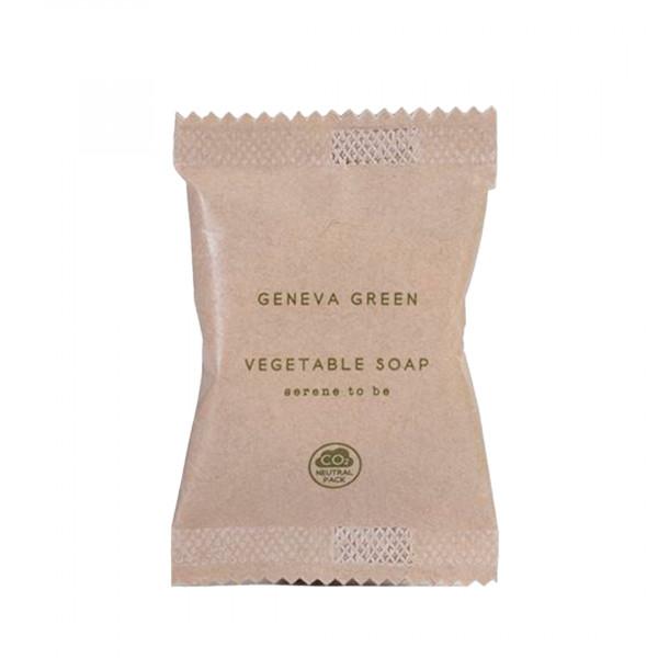 Saponetta vegetale tonta 15 gr in flow pack linea Geneva Green