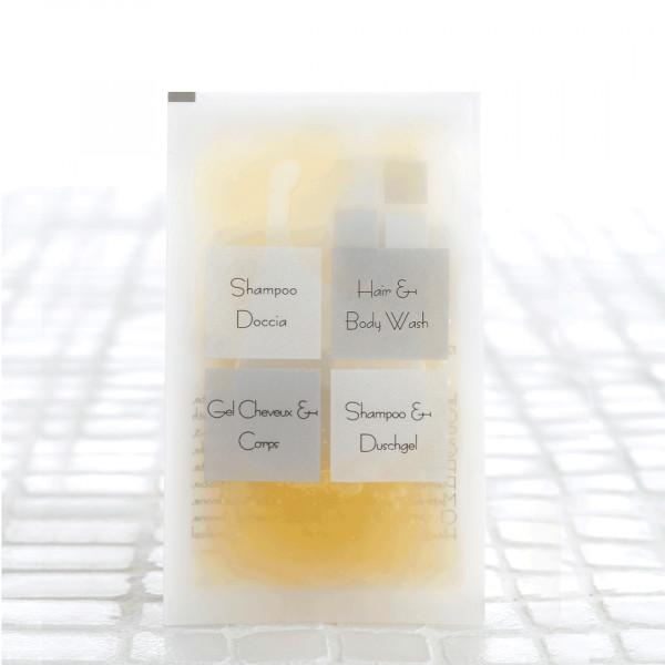 Shampoo doccia in bustina 11 ml linea cortesia neutra 600 pezzi
