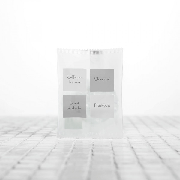 Cuffia doccia imbustata singolarmente confezione 100 pezzi