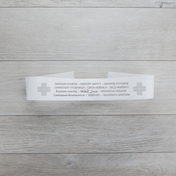 Striscia di garanzia igiene WC in carta non adesiva (2000 pezzi)