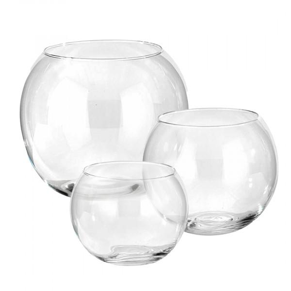 Cristal sfere in vetro trasparente
