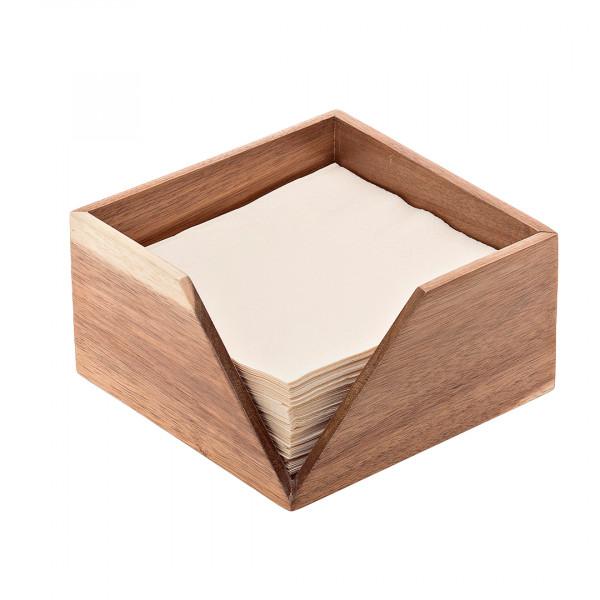 Portatovaglioli in legno 18,6 x 18,6 x 10 cm