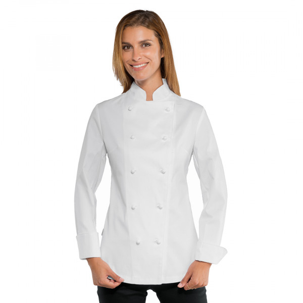 Giacca cuoco donna bianca