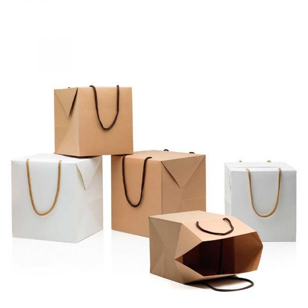 Bag box portapanettone con manici