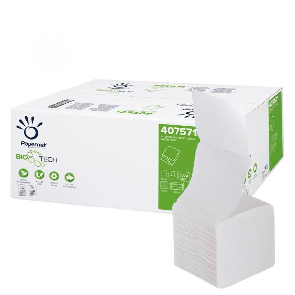 Carta igienica interfogliata Papernet Bio Tech