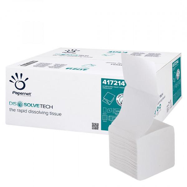Carta igienica interfogliata Papernet Dissolve Tech