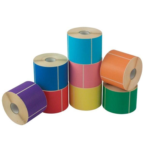 Etichette per stampa a trasferimento termico colorate