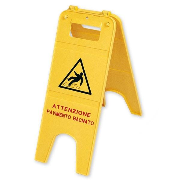 Segnale pericolo pavimento bagnato