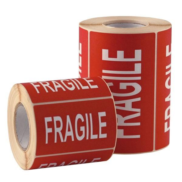 Etichette di spedizione scritta FRAGILE