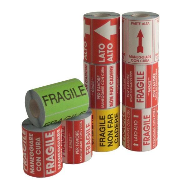 Etichette di spedizione prodotti fragili