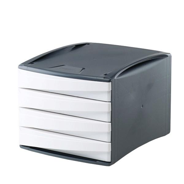 Mini cassettiera da scrivania in plastica