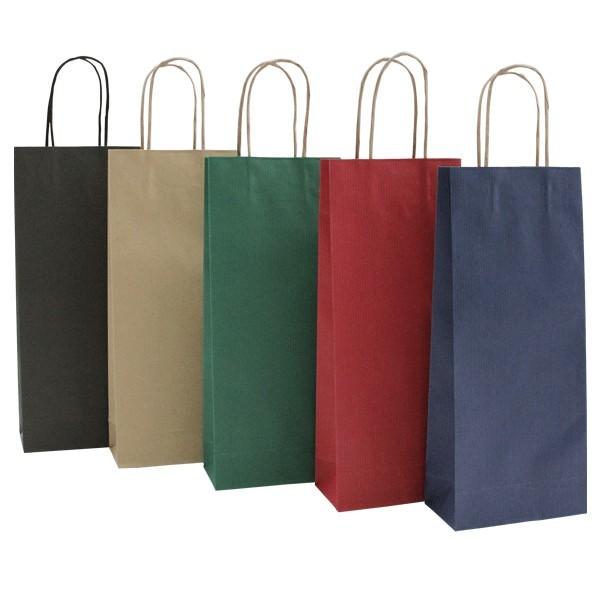 Shopper in carta portabottiglie