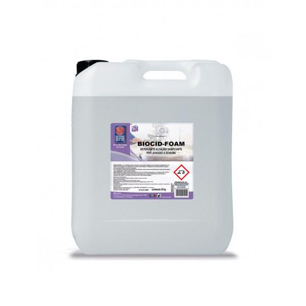 Biocid foam detergente alcalino sanificante