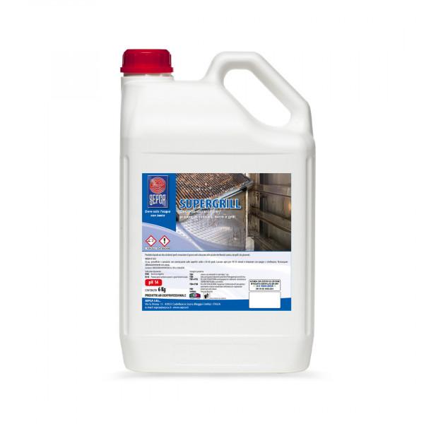 Supergrill detergente alcalino de carbonizzante