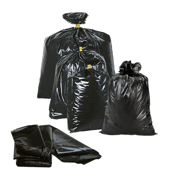 Buste per rifiuti nere PE-LD